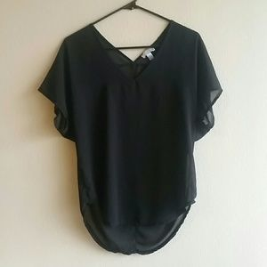 14th & Union sheer blouse